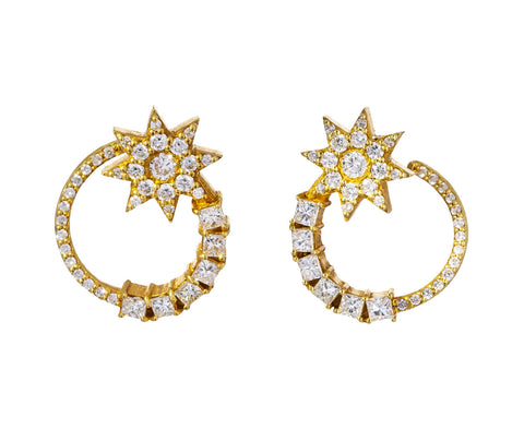 Diamond Shooting Star Earrings