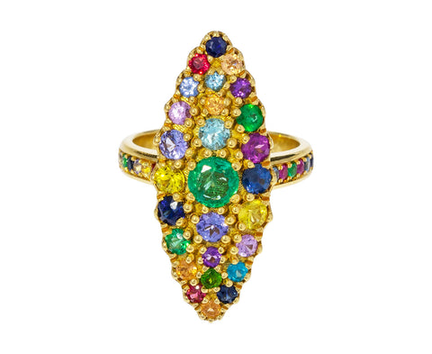 Multicolored Marquise Ring