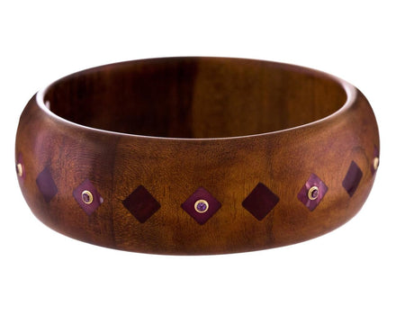 Cassandra Bangle Bracelet with Vintage Bakelite and Amethyst - TWISTonline