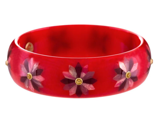 Matilda Vintage Bakelite Bangle with Spessartite Garnet - TWISTonline