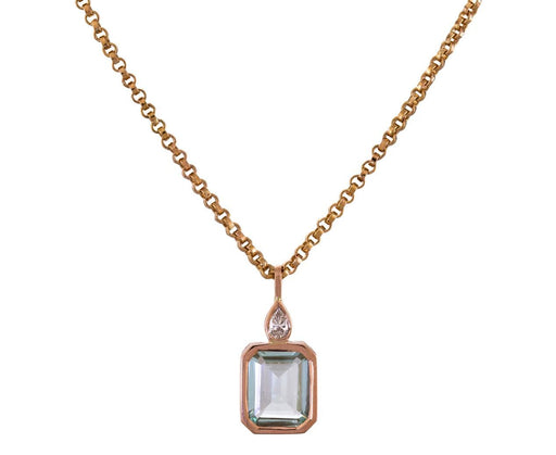 Emerald and Diamond Charm Pendant - TWISTonline