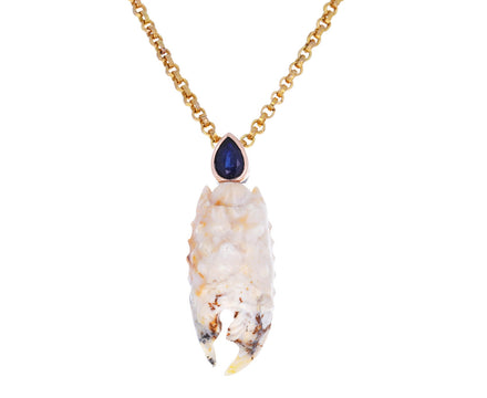 Agate Lobster Claw and Sapphire Pendant ONLY