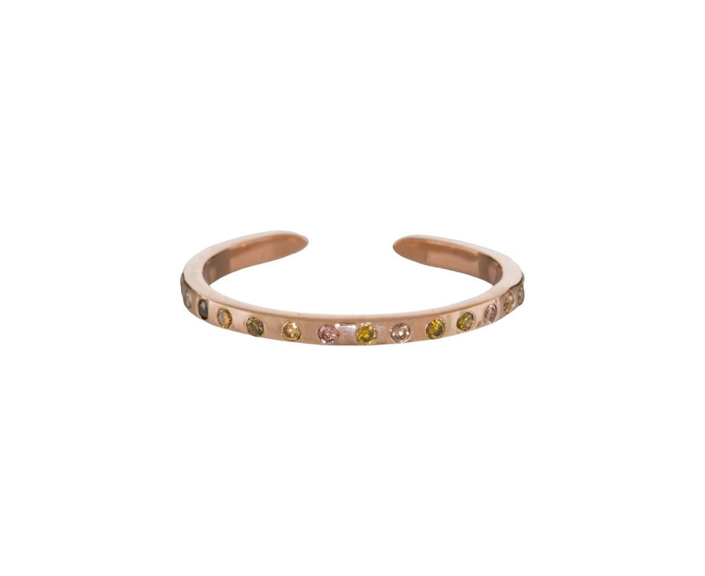 Natural Colored Diamond Cuff Ring - TWISTonline