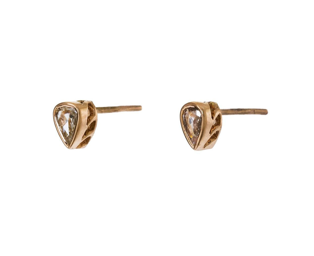 Small Jali Diamond Stud Earrings - TWISTonline
