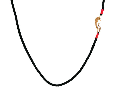 Rose Gold Seahorse Black Wrapped Necklace - TWISTonline