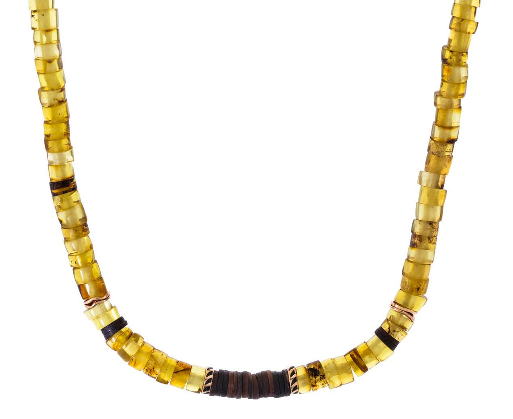 Amber and Coconut Shell Puka Necklace - TWISTonline