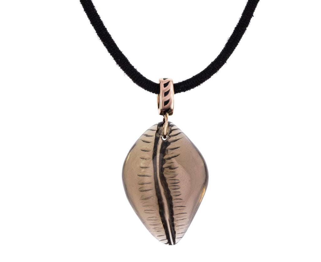Classic Smoky Quartz Cowry Shell Pendant ONLY - TWISTonline