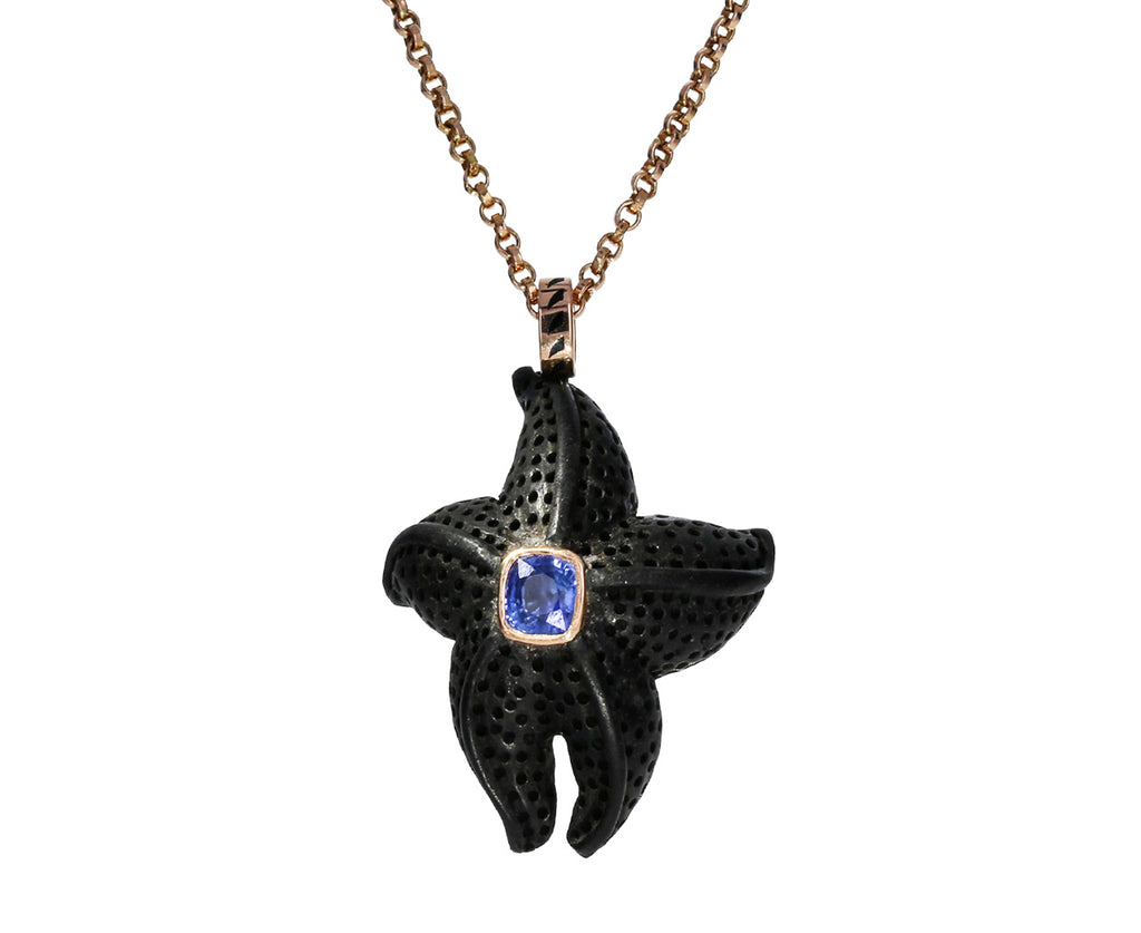 Ebony Starfish and Sapphire Pendant ONLY - TWISTonline