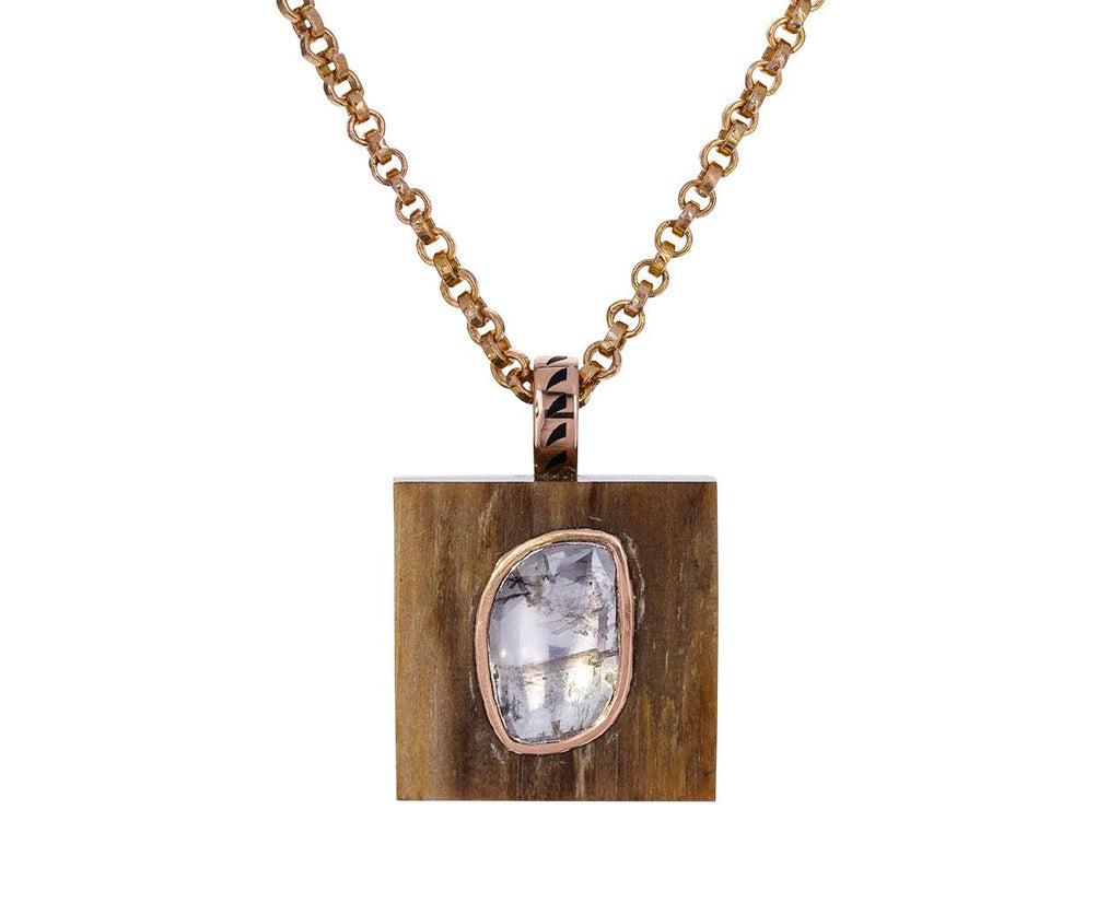 Opalized Wood and Diamond Pendant ONLY - TWISTonline