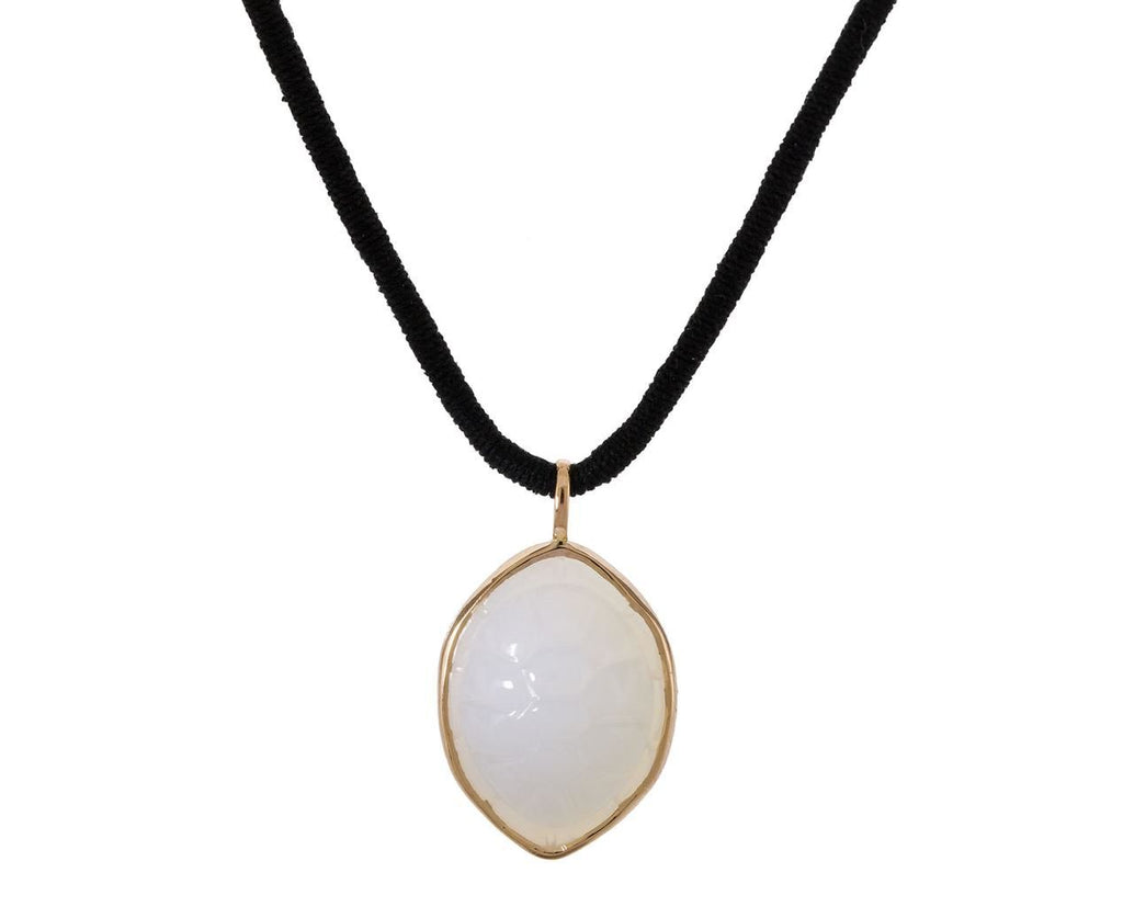 Carved White Agate Turtle Charm Pendant - TWISTonline