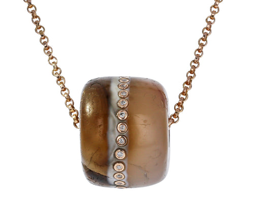 Agate and Diamond Bead Pendant ONLY