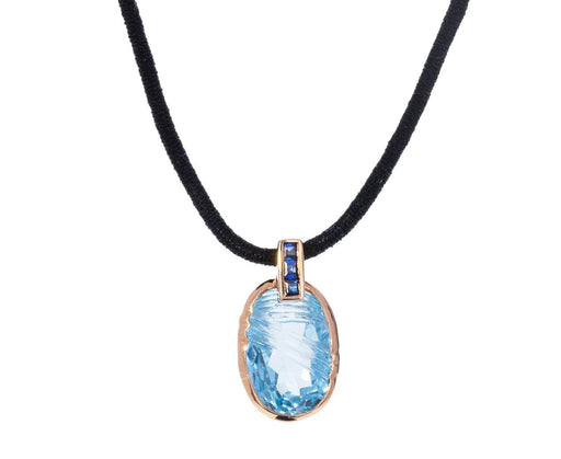 Aqua Topaz and Blue Sapphire Pendant ONLY - TWISTonline