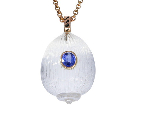 Crystal Coquito and Kunzite Pendant ONLY - TWISTonline