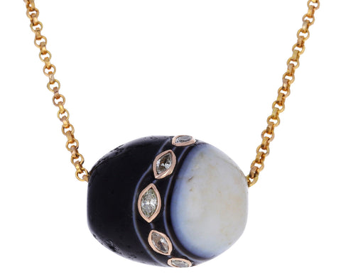 Marquise Diamond Agate Bead Pendant ONLY