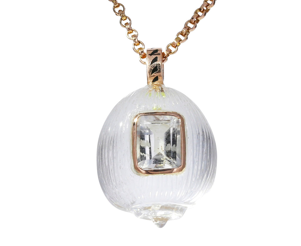 Crystal Carved Coquito and Sapphire Pendant ONLY - TWISTonline