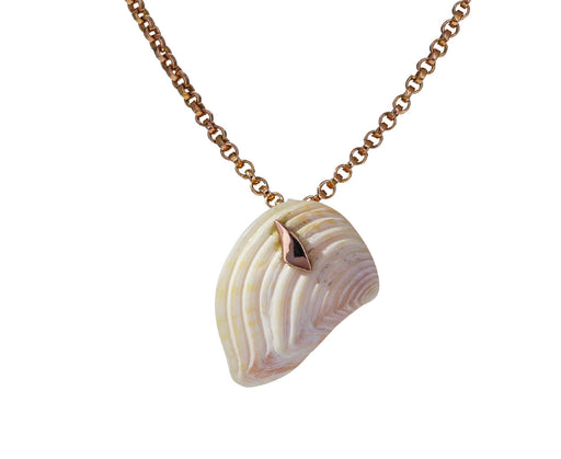 Gold Shark Fin and Shell Pendant ONLY
