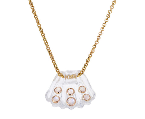 Crystal Capri Shell with Moonstone Pendant ONLY - TWISTonline
