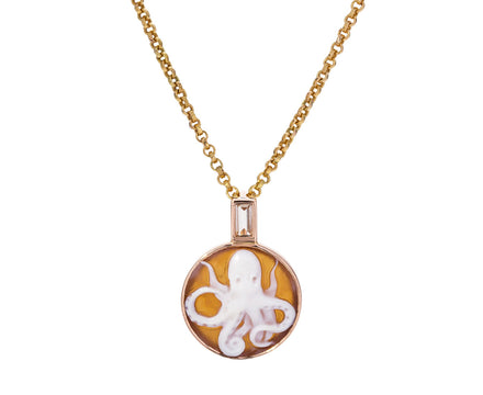 Octopus Cameo and Yellow Kyanite Pendant ONLY - TWISTonline