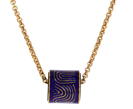 Atami Enamel Wave Spacer Bead Pendant ONLY