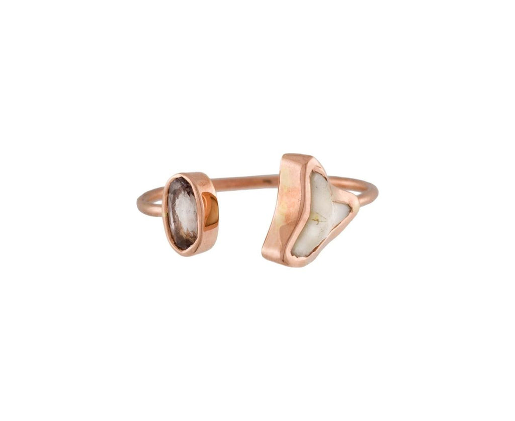 Shark Tooth and Polki Diamond Pinky Ring - TWISTonline
