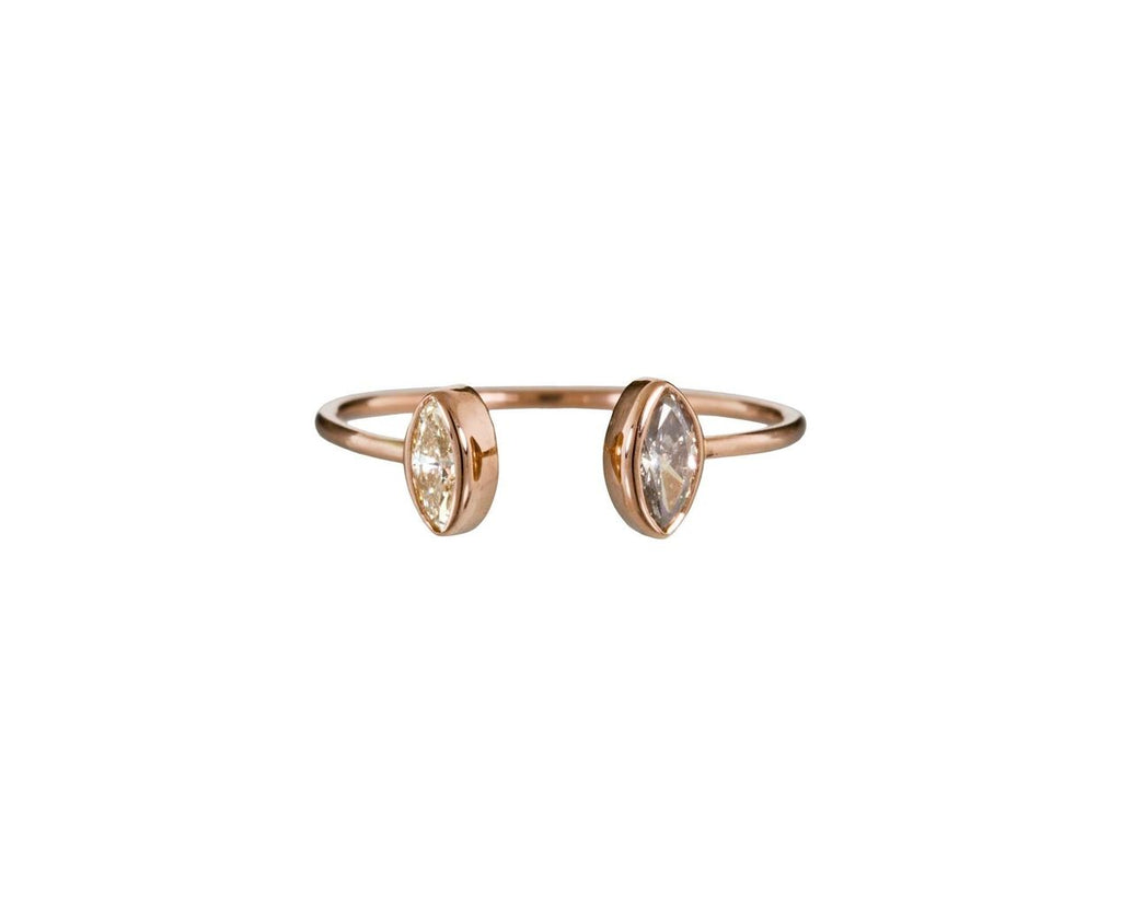 Double Diamond Cuff Ring - TWISTonline
