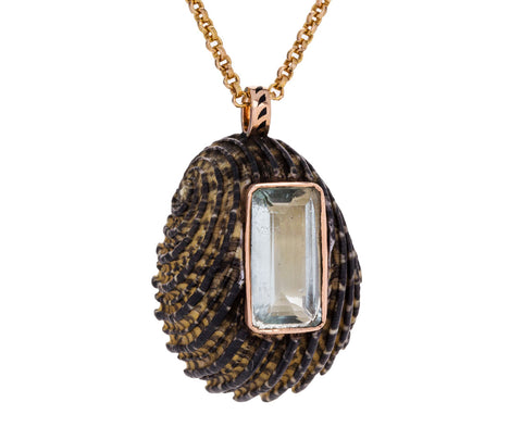 Narita Shell and Aquamarine Pendant ONLY - TWISTonline