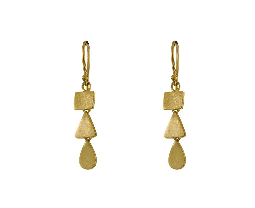 Gold Organic Cascade Earrings - TWISTonline