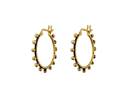 Granulated Ball Hoop Earrings - TWISTonline
