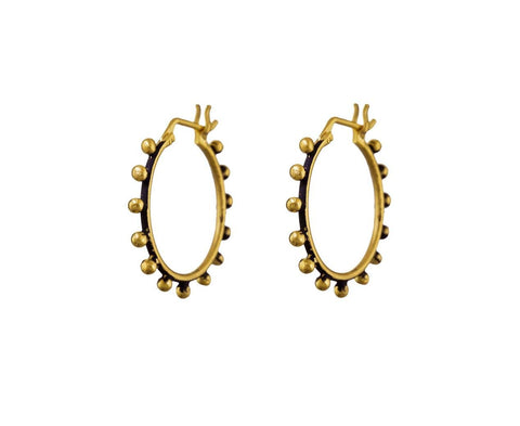 Granulated Ball Hoop Earrings zoom 1-jane-diaz-earrings