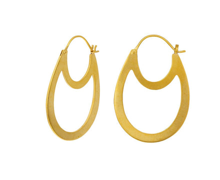 Double Oval Hoop Earring - TWISTonline