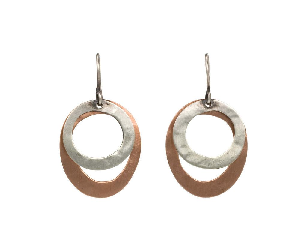 Organic Circle Drop Earrings - TWISTonline