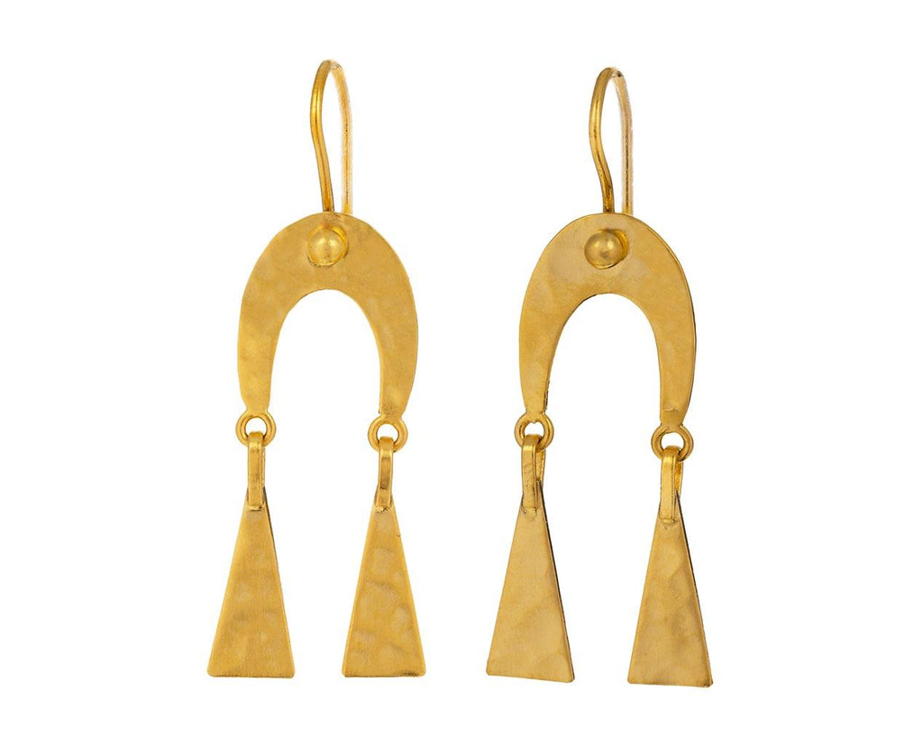 Hammered Horseshoe Drop Earrings - TWISTonline