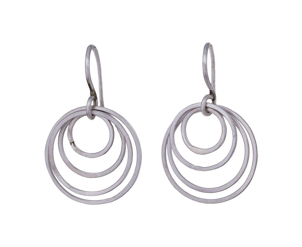 Small Whisper Silver Hoop Drop Earrings - TWISTonline