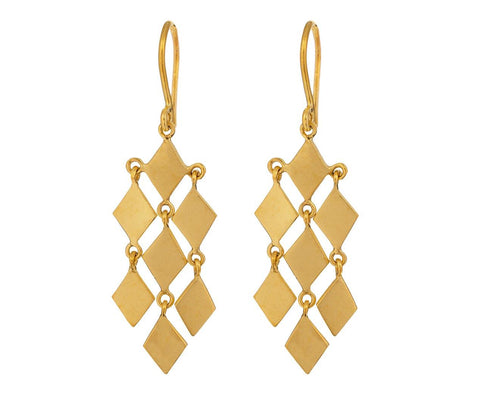 Diamond Shape Chandelier Drop Earrings - TWISTonline