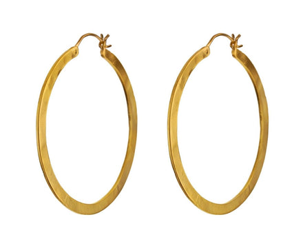 Large Gold Plated Hoop Earrings - TWISTonline
