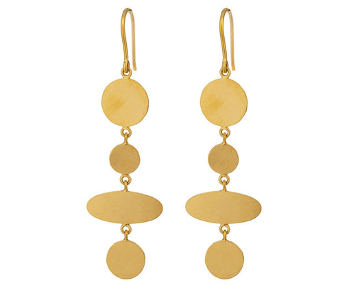 Ellipse Disc Drop Earrings - TWISTonline