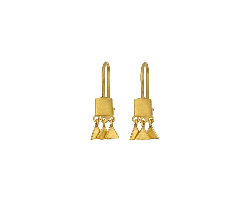 Tiny Square Triangle Drop Earrings - TWISTonline