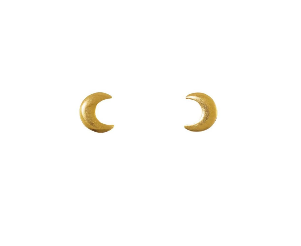 Crescent Moon Stud Earrings - TWISTonline