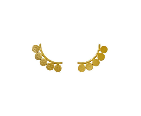 Curved Bar Disc Earrings - TWISTonline