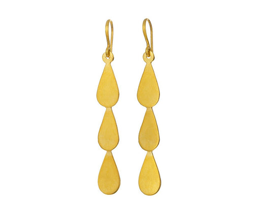 Gold Teardrop Cascade Earrings - TWISTonline