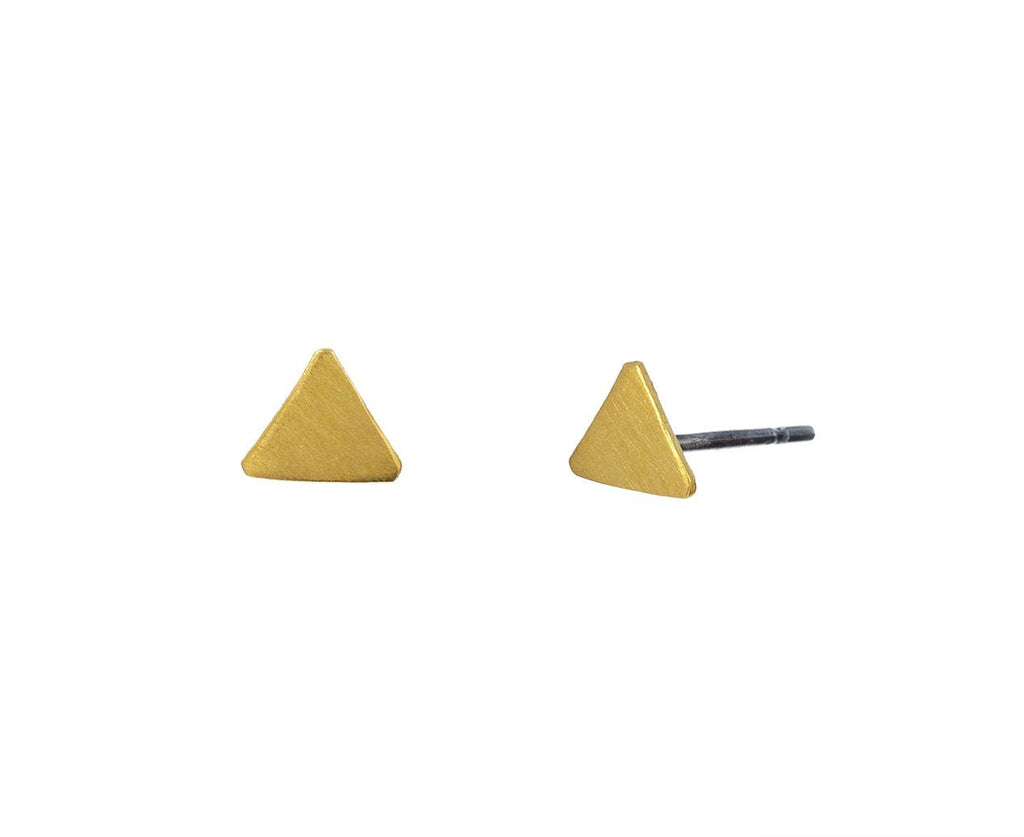 Gold Plated Triangle Stud  zoom 1_jane_diaz_gold_triangle_stud_earrings