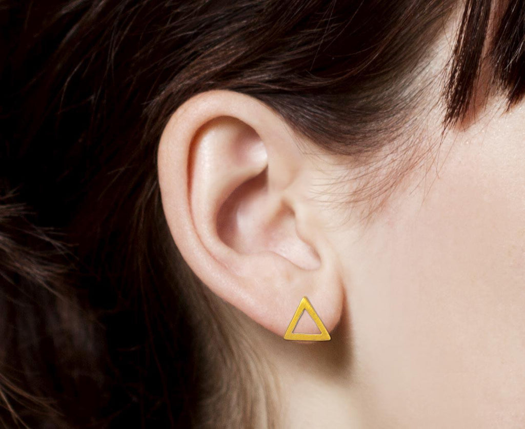 Cut Out Triangle Post Earrings - TWISTonline