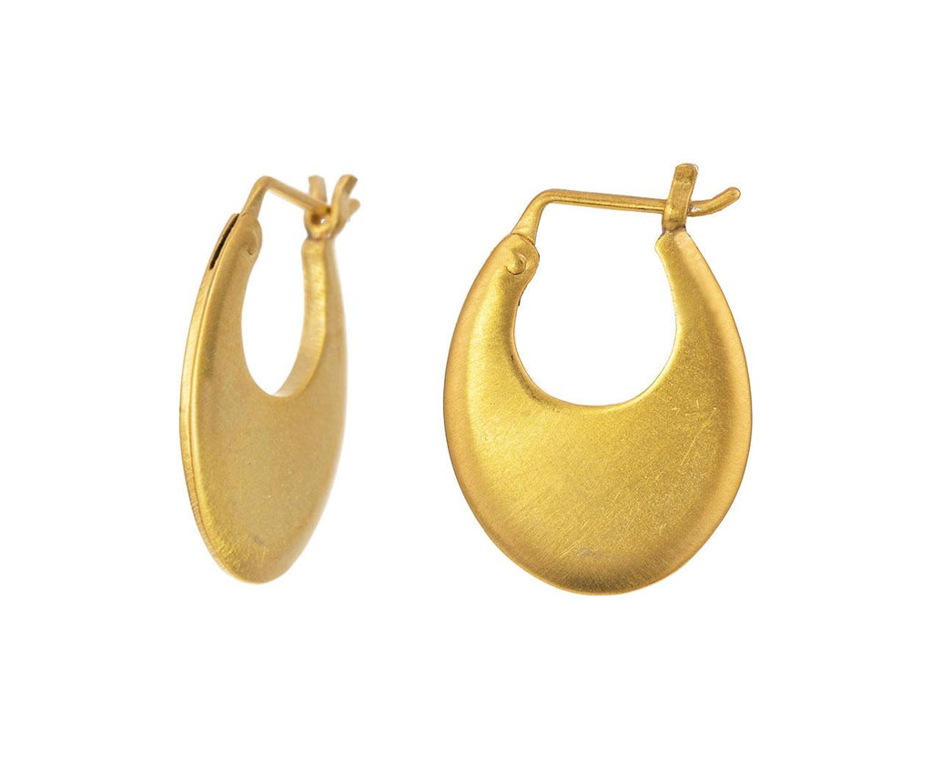 Small Oval Gold Plated Hoop Earrings - TWISTonline