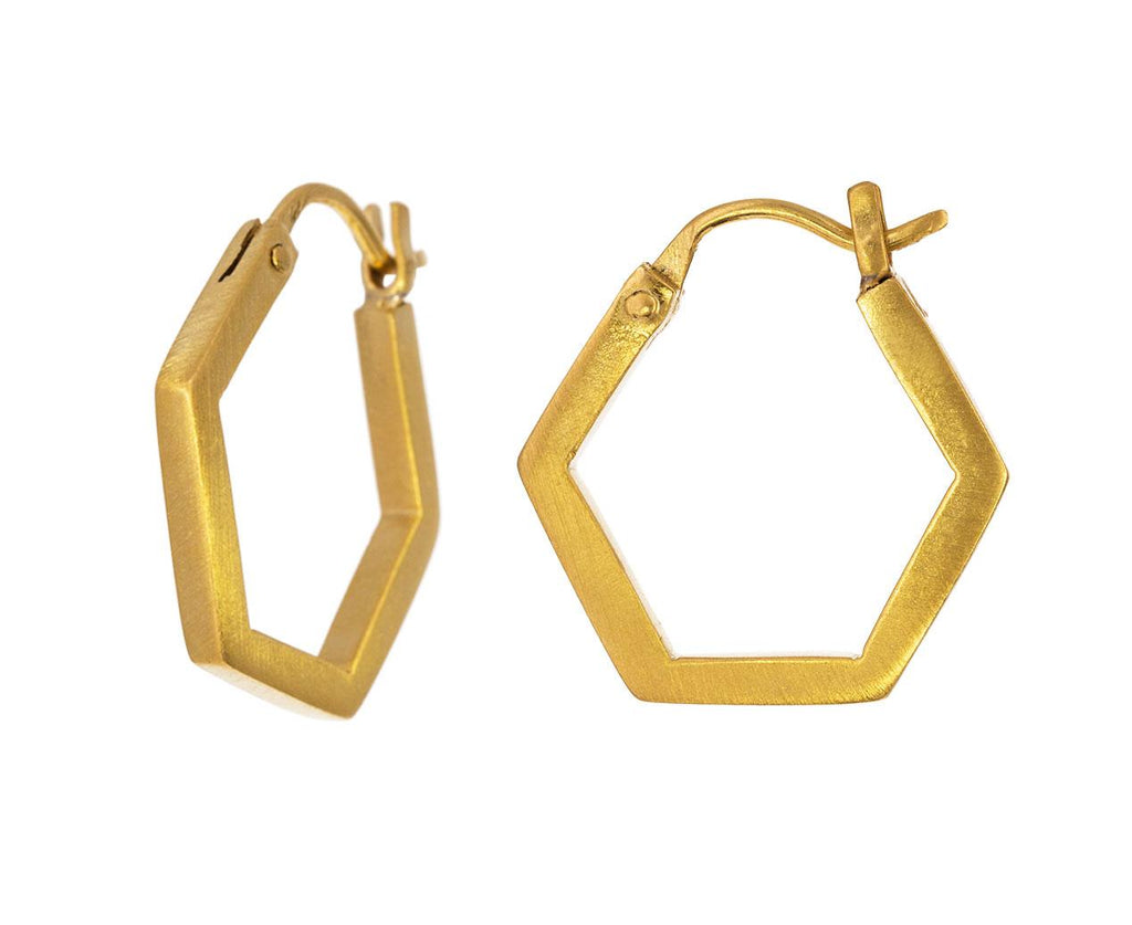 Hexagonal Hoop Earrings - TWISTonline