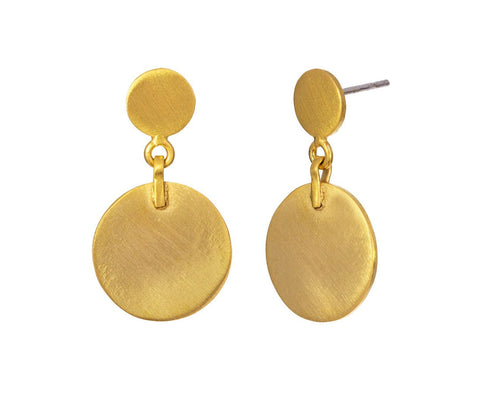 Double Disc Drop Earrings - TWISTonline