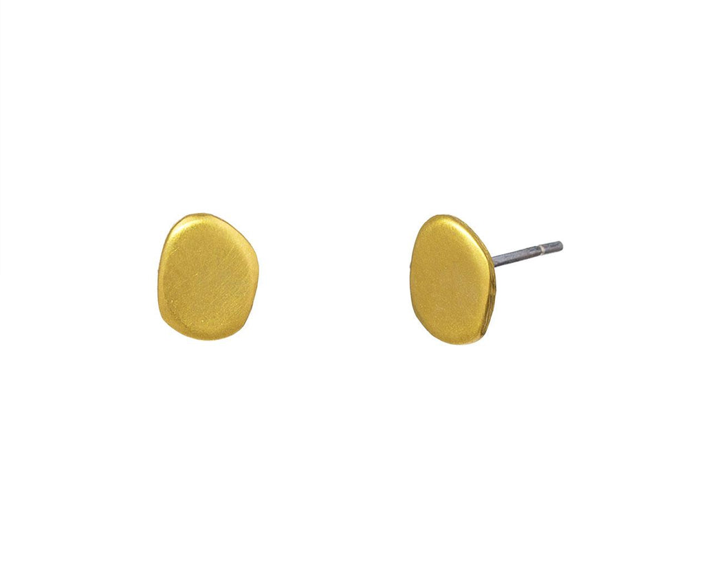 Gold Plated River Rock Studs - TWISTonline