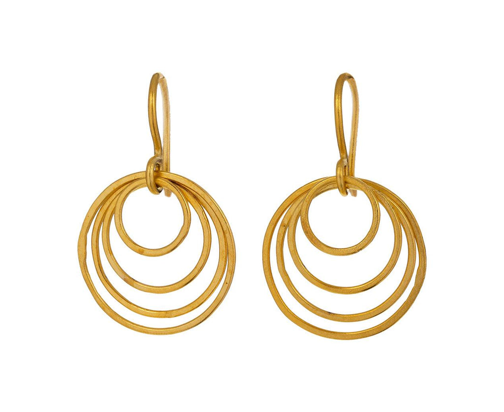 Small Whisper Gold Hoop Drop Earrings - TWISTonline