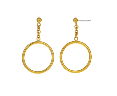 Ball Stud Swing Hoop Earring - TWISTonline