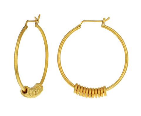 Sliding Ring Hoop Earrings