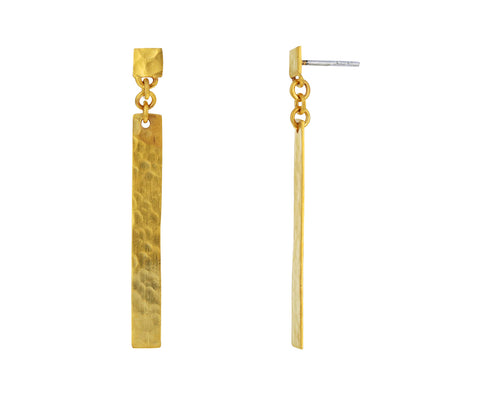 Hammered Bar Drop Earring - TWISTonline